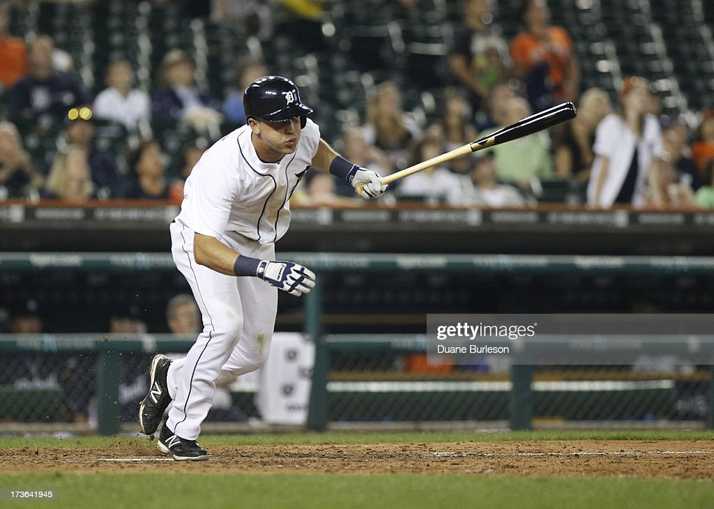 Hernan Perez of the Detroit Tigers bats against the Chicago White Sox at Comerica Park on July 9 2013 in Detroit Michigan