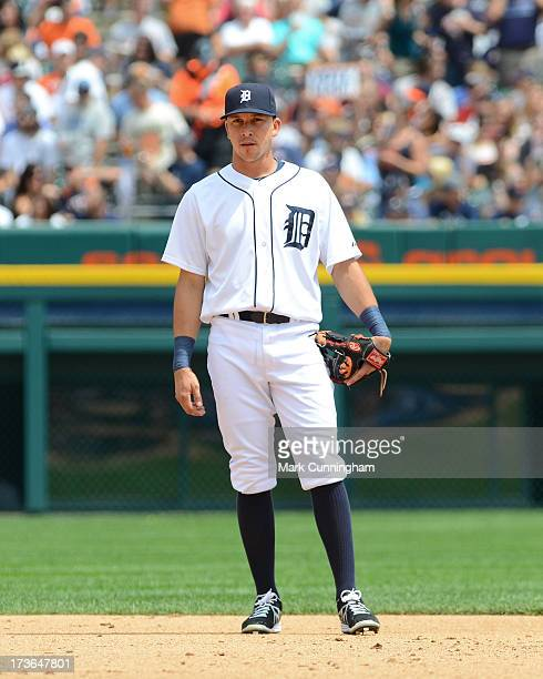 Hernan Perez of the Detroit Tigers looks on during the game against the Chicago White Sox at Comerica Park on July 11 2013 in Detroit Michigan The...