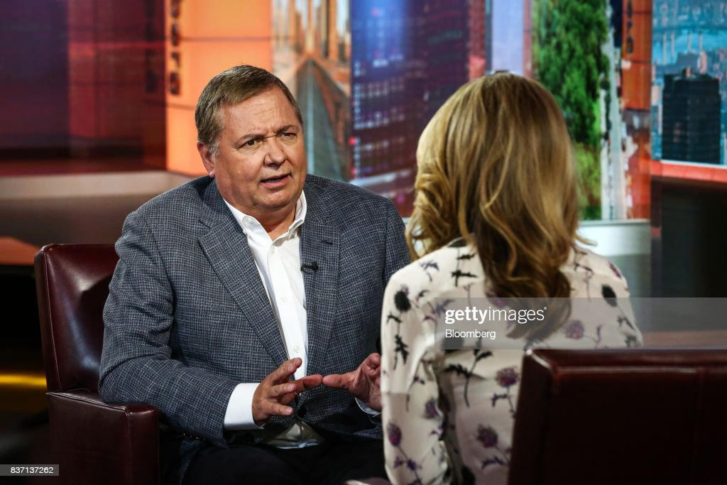 Hernan Rincon, president and chief executive officer of Avianca Holdings SA, speaks during a Bloomberg Television interview in New York, U.S., on Tuesday, Aug. 22, 2017. Rincon discussed United Continental Holdings Inc. negotiations and competition in low-cost carriers. Photographer: Christopher Goodney/Bloomberg via Getty Images