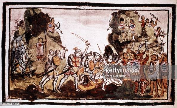 Hernando Cortes Spanish conquistador attacking natives in Mexico Cortes landed in Mexico in 1519 With a force of only some 600 men he succeeded in...