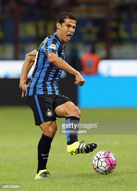 Hernanes of Inter Atalanta during the Serie A match between FC Internazionale Milano and Atalanta BC at Stadio Giuseppe Meazza on August 23 2015 in...