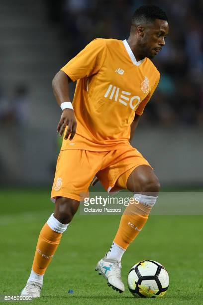 Hernani of FC Porto in action during the PreSeason Friendly match between FC Porto and RC Deportivo La Coruna at Estadio do Dragao on July 30 2017 in...