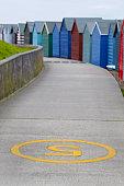 Herne Bay,  Kent,  UK,  beach huts