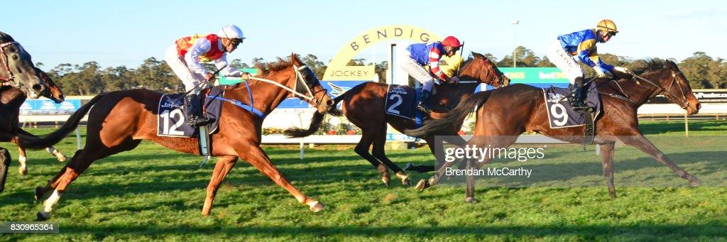 Hero Master ridden by Lachlan King wins the No Fuss Event Hire BM70 Handicap at Bendigo Racecourse on August 13, 2017 in Bendigo, Australia.