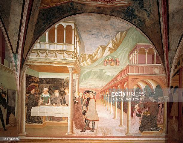 Herod's Banquet fresco by the Master of Castelseprio Church of Santa Maria Foris Portas Castelseprio Italy 9th century