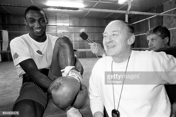 Herol Bomber Graham and manager Barney Eastwood together again in Sheffield following a managerial rift to announce Graham's bid for the WBA...