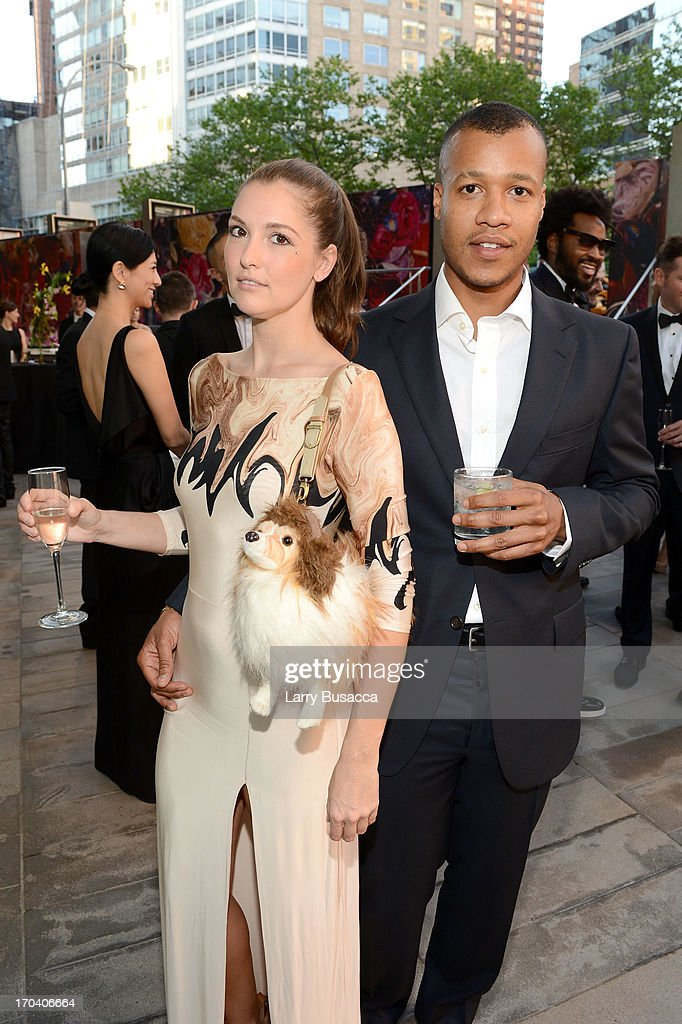 Heron Preston (R) and guest attend the 2013 Fragrance Foundation Awards at Alice Tully Hall at Lincoln Center on June 12, 2013 in New York City.