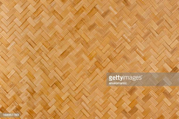 Herring-bone bamboo background.