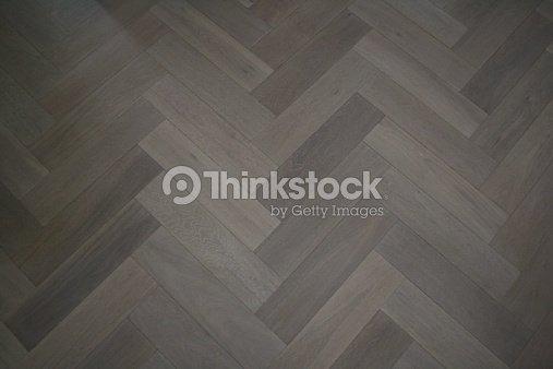 Herringbone Parquet oak floor : Stock Photo