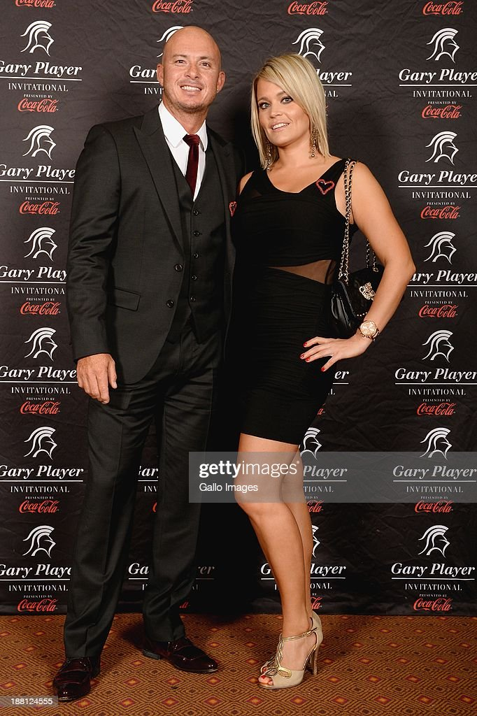 <a gi-track='captionPersonalityLinkClicked' href=/galleries/search?phrase=Herschelle+Gibbs&family=editorial&specificpeople=193820 ng-click='$event.stopPropagation()'>Herschelle Gibbs</a> (L) and girlfriend Sherrin Davie attend the the Gala Dinner and Charitable Auction of the Gary Player Invitational presented by Coca-Cola at Sun City Convention Centre on November 15, 2013 in Sun City, South Africa.