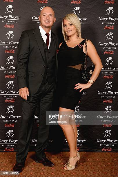 Herschelle Gibbs and girlfriend Sherrin Davie attend the the Gala Dinner and Charitable Auction of the Gary Player Invitational presented by CocaCola...