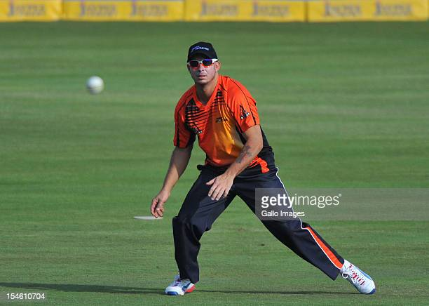 Herschelle Gibbs of Perth in the field during the Karbonn Smart CLT20 match between Auckland Aces and Perth Scorchers at SuperSport Park on October...