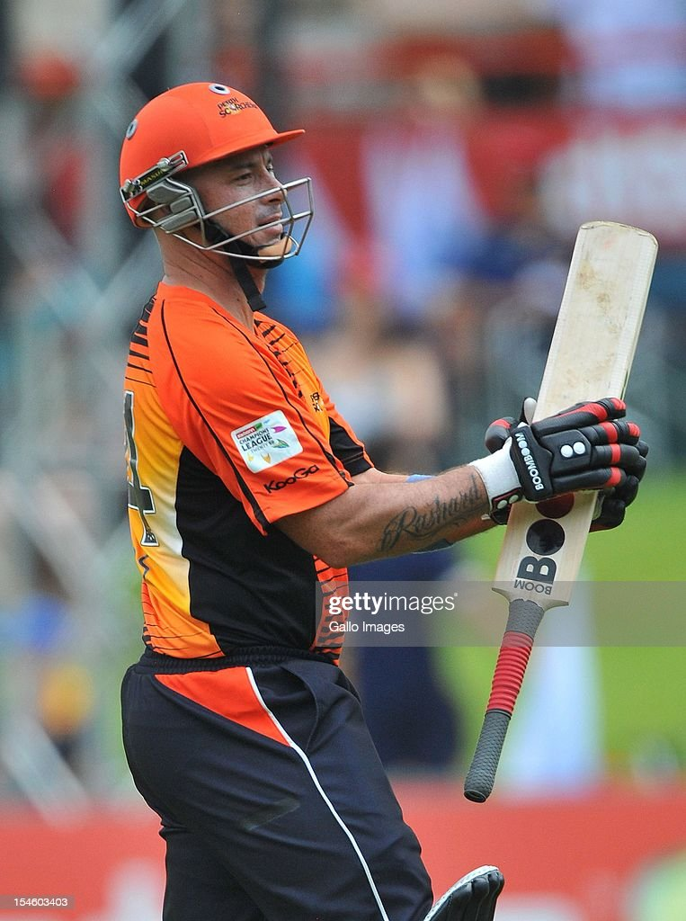 <a gi-track='captionPersonalityLinkClicked' href=/galleries/search?phrase=Herschelle+Gibbs&family=editorial&specificpeople=193820 ng-click='$event.stopPropagation()'>Herschelle Gibbs</a> of Perth walks off after scoring 6 runs during the Karbonn Smart CLT20 match between Auckland Aces and Perth Scorchers at SuperSport Park on October 23, 2012 in Pretoria, South Africa.