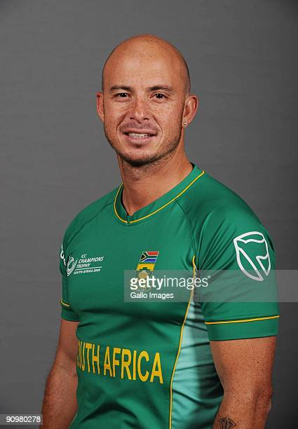 AFRICA SEPTEMBER 19 Herschelle Gibbs of South Africa poses during an ICC Champions photocall session at Sandton Sun on September 19 2009 in Sandton...