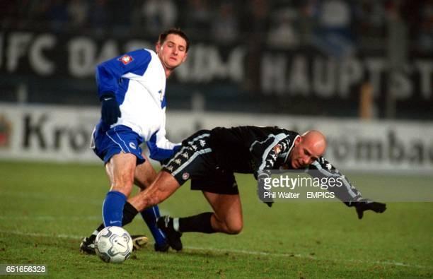 Hertha Berlin's Pal Dardai challenges St Pauli's Marcel Rath