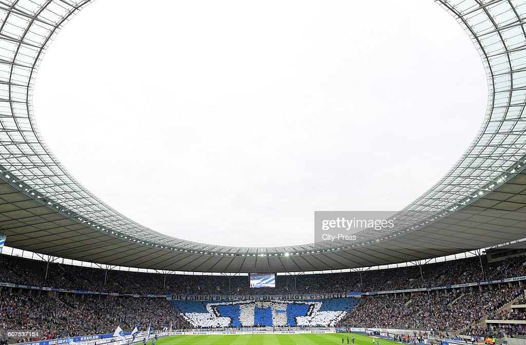 Hertha BSC Choreographie before the game between Hertha BSC and FC Schalke 04 on September 18, 2016 in Berlin, Germany.