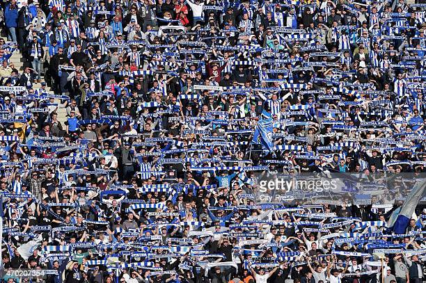 Hertha fans during the game between Hertha BSC and 1 FC Koeln on April 18 2015 in Berlin Germany