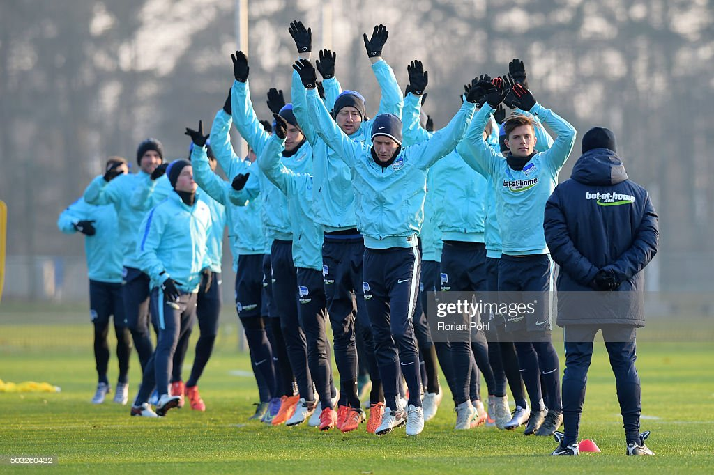 Hertha Team during the training of Hertha BSC on January 3, 2016 in Berlin, Germany.
