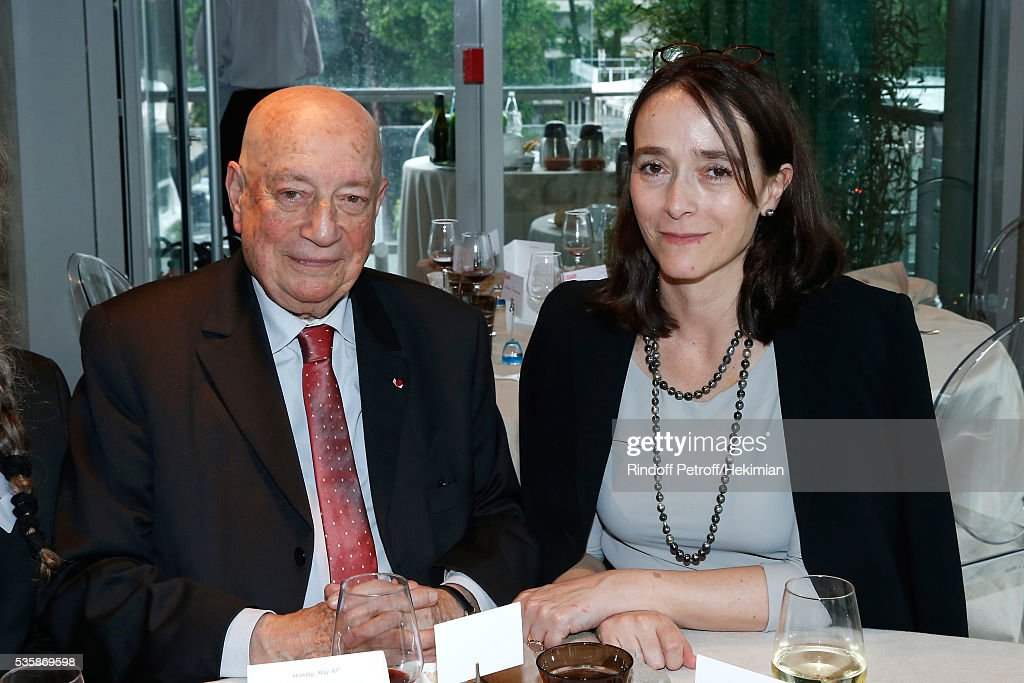 Herve Bourges and President of France Television, Delphine Ernotte attend the 'France Television' Lunch during Day Nine of the 2016 French Tennis Open at Roland Garros on May 30, 2016 in Paris, France.