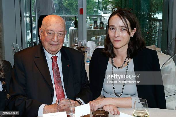 Herve Bourges and President of France Television Delphine Ernotte attend the 'France Television' Lunch during Day Nine of the 2016 French Tennis Open...