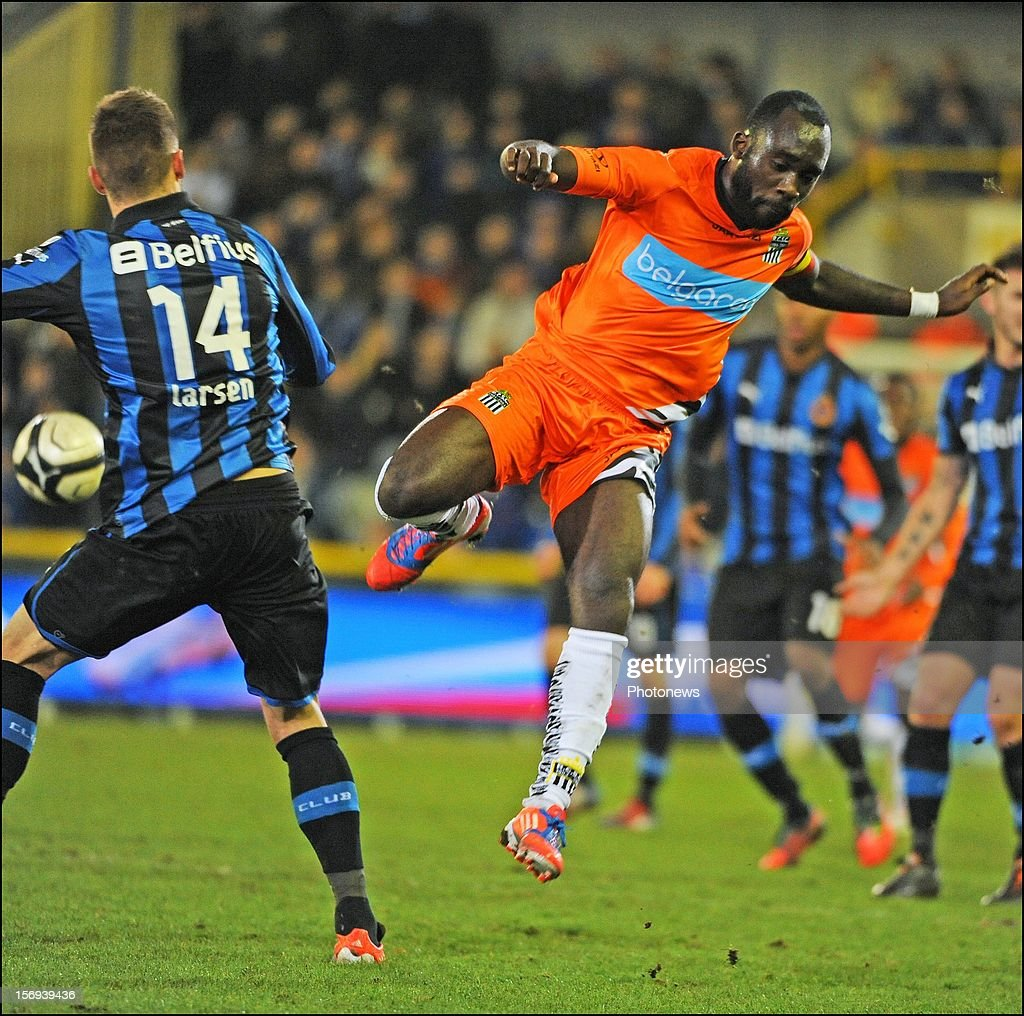 Herve Kage of Charleroi pictured during the Jupiler League match between Club Brugge K.V and R.C.S.Charleroi November 25, 2012 in Brugge, Belgium.