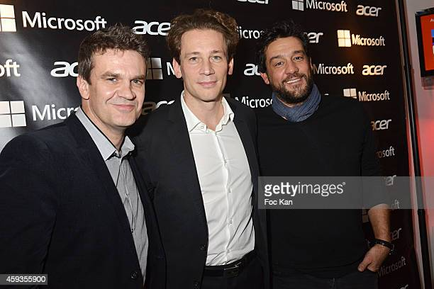 Herve Mathoux Fabrice Massin and Titoff attend the Acer Pop Up Store Launch Party at Les Halles on November 20 2014 in Paris France