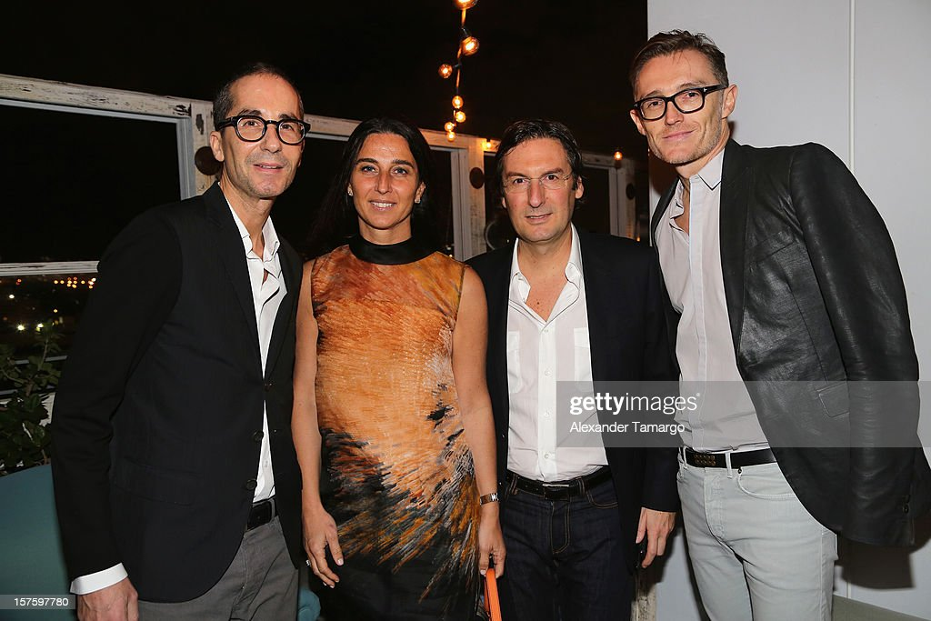 Herve Mikaeloff, Elisabetta Beccari, Louis Vuitton Executive Pietro Beccari and Fred Walter attend the Baku Magazine Party at Soho Beach House during Miami Art Basel on December 4, 2012 in Miami Beach, Florida. Baku Magazine is dedicated to promoting contemporary art and culture in Azerbaijan.