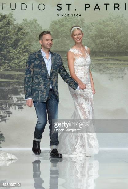 Herve Moreau and Karolina Kurkova attend the Studio St Patrick show during Barcelona Bridal Fashion Week 2017 on April 26 2017 in Barcelona Spain