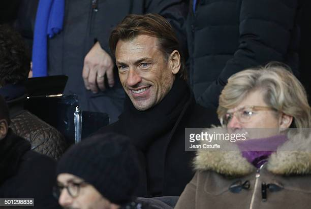 Herve Renard attends the French Ligue 1 match between Paris SaintGermain and Olympique Lyonnais at Parc des Princes stadium on December 13 2015 in...