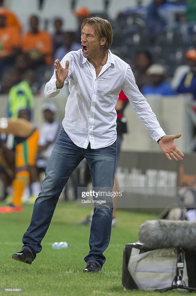 AFRICA - JANUARY 29, <a gi-track='captionPersonalityLinkClicked' href=/galleries/search?phrase=Herve+Renard&family=editorial&specificpeople=2789238 ng-click='$event.stopPropagation()'>Herve Renard</a> (Zambian Manager) during the 2013 Orange African Cup of Nations match between Burkina Faso and Zambia from Mbombela Stadium on January 29, 2013 in Nelspruit, South Africa.