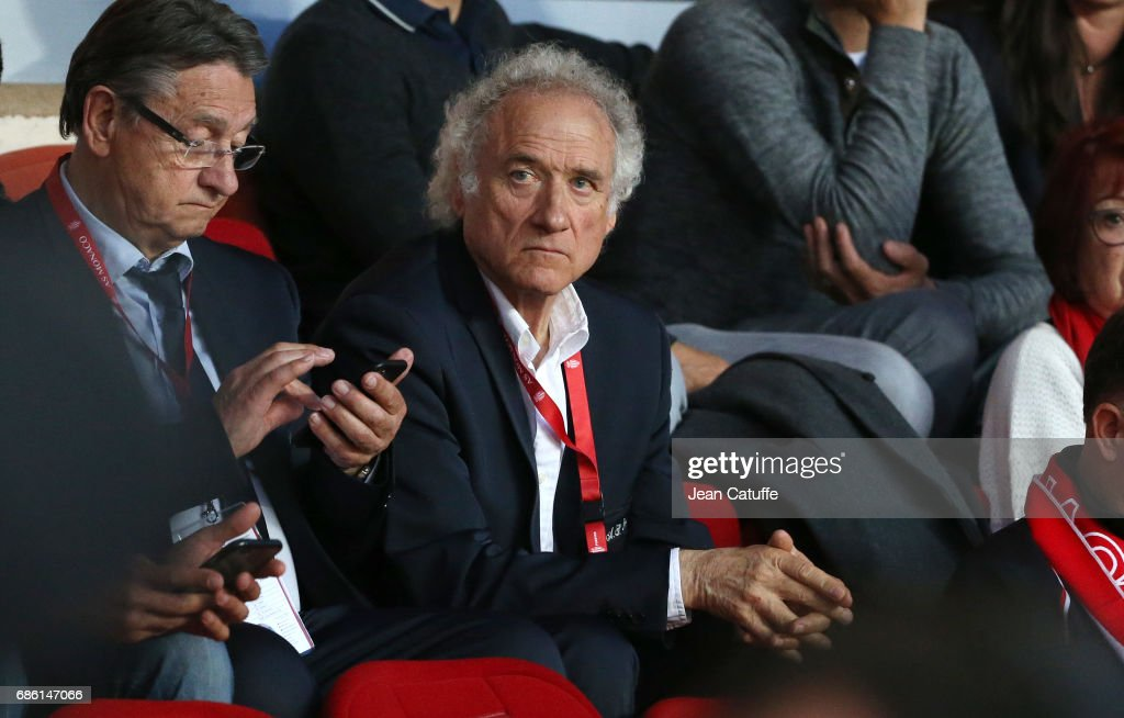 Herve Revelli of Saint-Etienne attends the French Ligue 1 match between AS Monaco and AS Saint-Etienne (ASSE) at Stade Louis II on May 17, 2017 in Monaco, Monaco.
