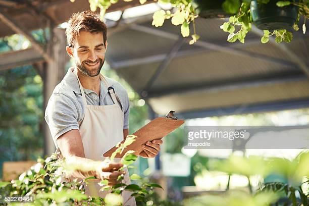 Er ist ein Garten guru