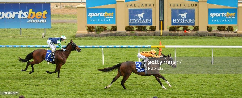 He's a Moral ridden by Ethan Brown wins the Hygain Winner Choice BM64 Handicap at Sportsbet-Ballarat Racecourse on October 12, 2017 in Ballarat, Australia.