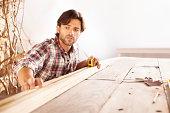 He's a skilled carpenter