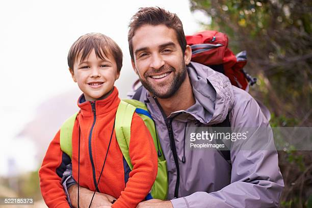 He's already an avid little hiker