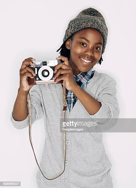 He's an aspiring photographer