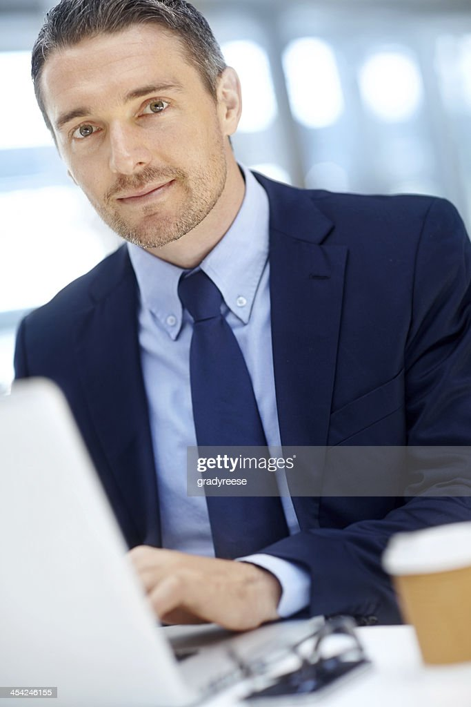 He's an expert at corporate affairs : Stock Photo