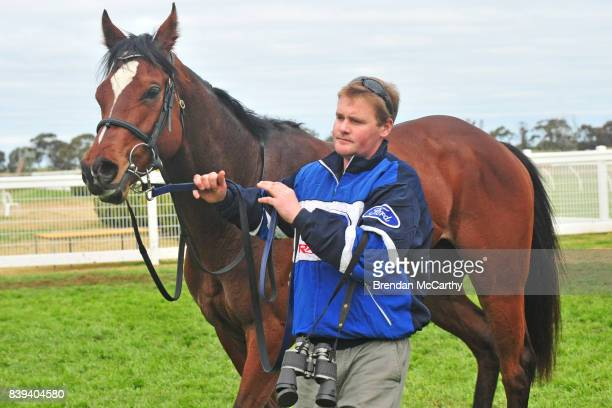 He's Got Spunk and Kane Harris after winning the The Early Bird Cafe Now For Sale 0 58 Handicap at Donald Racecourse on August 26 2017 in Donald...