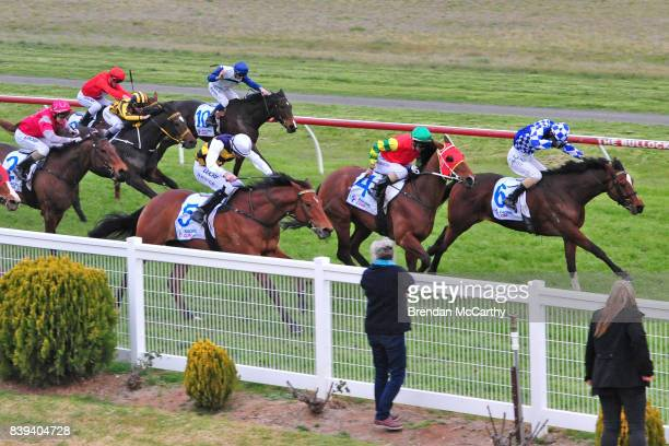 He's Got Spunk ridden by Jamie Mott wins the The Early Bird Cafe Now For Sale 0 58 Handicap at Donald Racecourse on August 26 2017 in Donald Australia