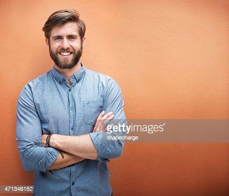 Er Stil und ein tolles Lächeln