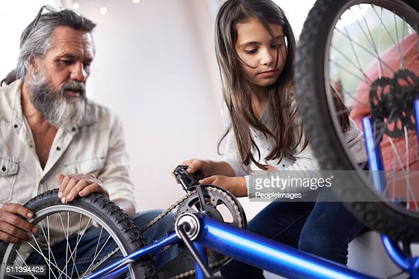 He's got years of bike-fixing experience