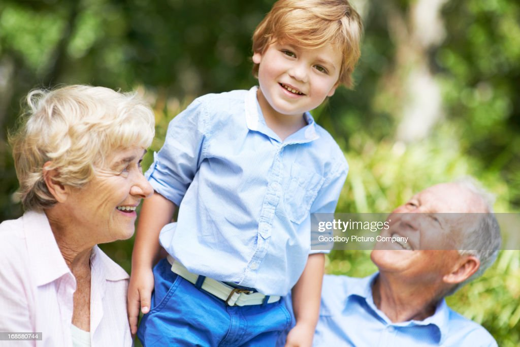 He's our pride and joy! : Stock Photo