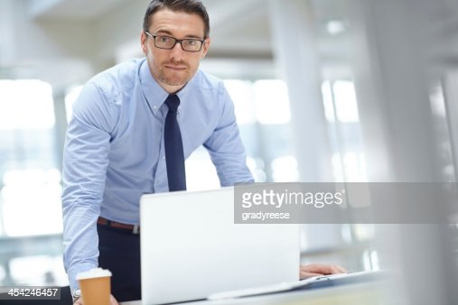 He's ready for his next meeting : Stock Photo