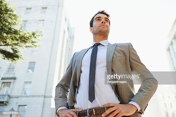 Er ist bereit für Wall Street.