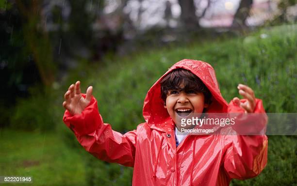 He's sort of singing in the rain