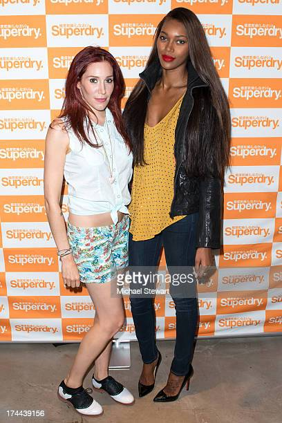Hesta Prynn and model Jessica White attend the launch of Superdry Seaport on July 25 2013 in New York City