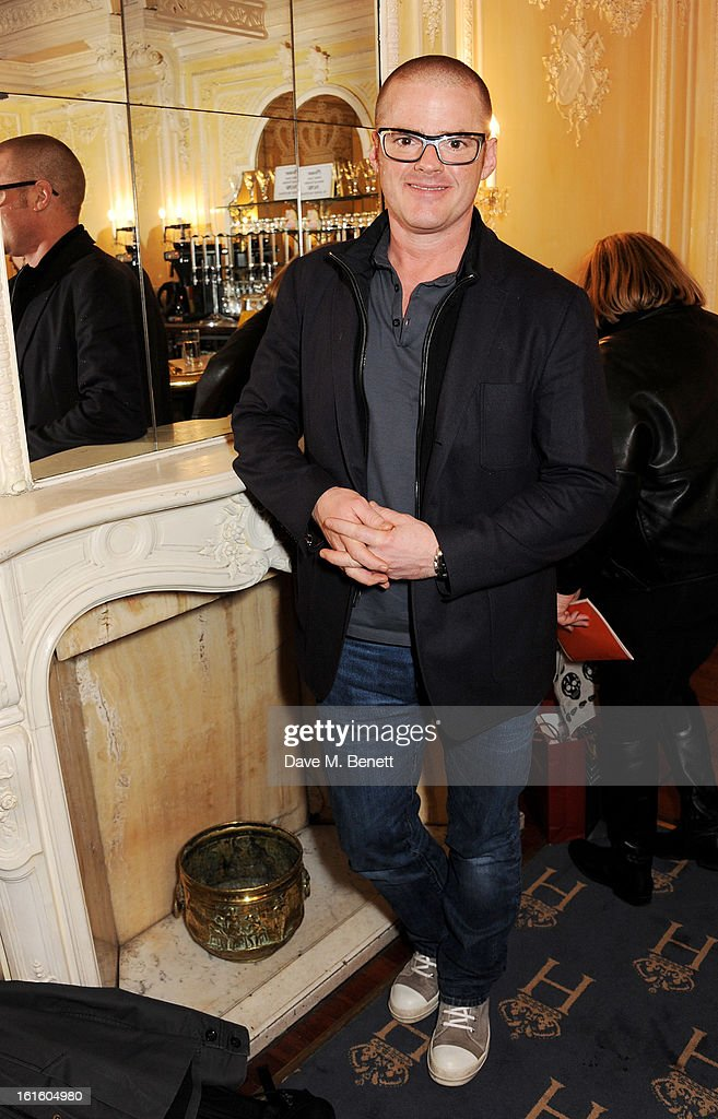 Heston Blumenthal attends an after party celebrating the new cast of 'One Man, Two Guvnors' at the Theatre Royal Haymarket on February 12, 2013 in London, England.