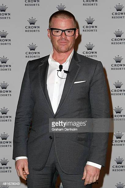 Heston Blumenthal poses after announcing the launch of his first international restaurant outside of the United Kingdom at Crown Entertainment...