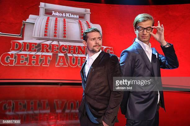 HeuferUmlauf Klaas Presenter Germany with Joko during TVShow 'Die Rechnung geht auf uns'