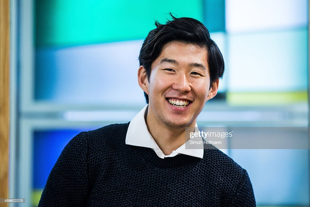 <a gi-track='captionPersonalityLinkClicked' href=/galleries/search?phrase=Heung-Min+Son&family=editorial&specificpeople=7118687 ng-click='$event.stopPropagation()'>Heung-Min Son</a> of Bayer Leverkusen smiles prior to the decision of DFB Court on the objection to the length of a 3 match ban in the DFB Cup which was given after Son was shown a red card for violent conduct at DFB Headquarter on December 2, 2014 in Frankfurt am Main, Germany.
